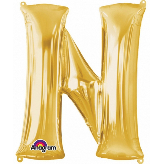 Naam versiering gouden letter ballon n