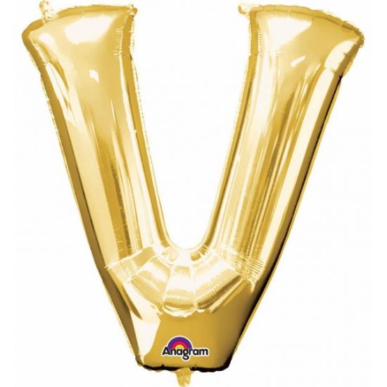 Naam versiering gouden letter ballon v