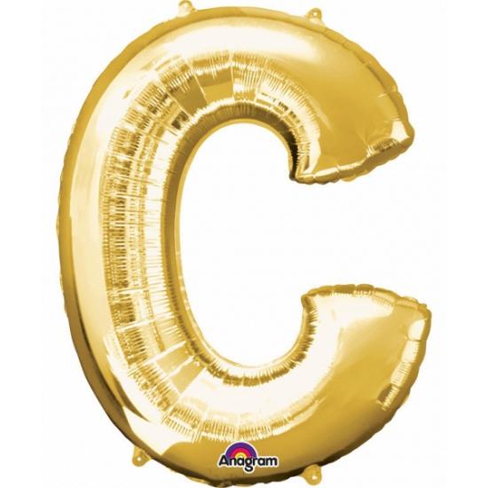 Naam versiering gouden letter ballon c