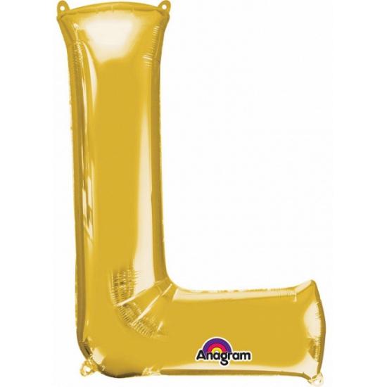 Naam versiering gouden letter ballon l