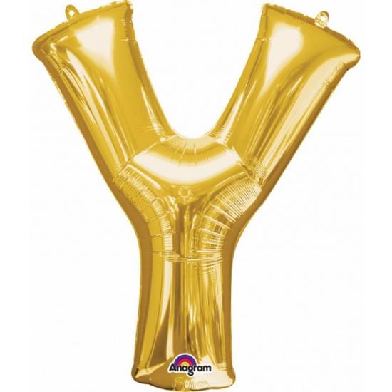 Naam versiering gouden letter ballon y