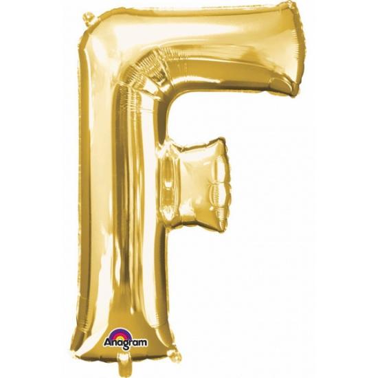 Naam versiering gouden letter ballon f
