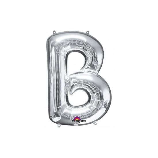 Naam versiering zilveren letter ballon b