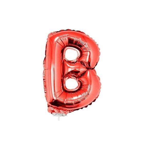 Rode letter ballon ballon b op stokje 41 cm