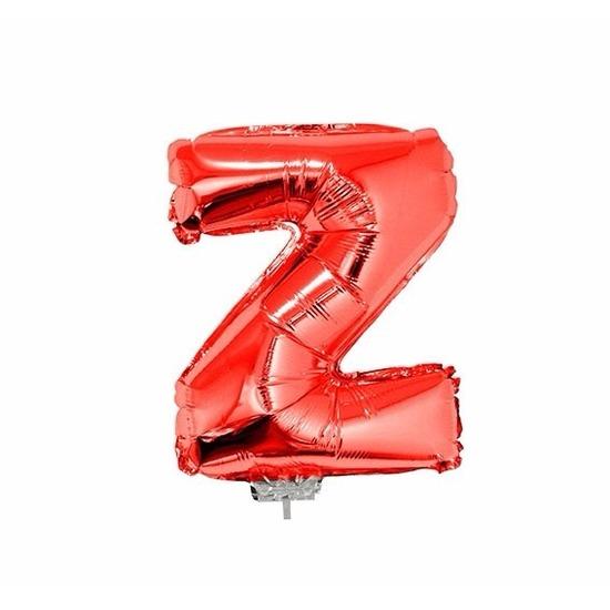 Rode letter ballon z op stokje 41 cm